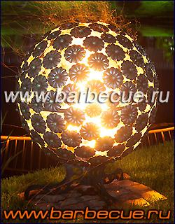 Кованые огненные сферы - фото. Подарок для дачи! Продажа огненных шаров и мангалов для дачи и сада