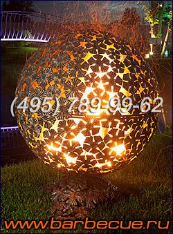 Огненная сфера и костровая чаша - украшение садового участка. Недорого огненные сферы