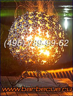 Костровая чаша, сфера для огня - садовое урашение и необычный подарок дачнику и садоводу! Продажа костровых чаш и огненных сфер Fire Pit