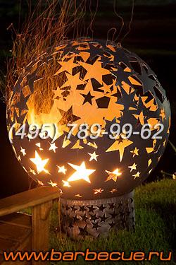 Сфера для огня, костровая чаша Fire Pits - украшение ландшафта. Огненная сфера недорого.