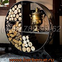 Кованые дровницы купить недорого в Москве. Подарочные дровницы для дачи купить у производителя