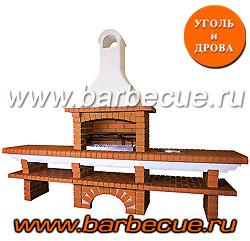 Кирпичный печной комплекс с грилем барбекю. Купить недорого кирпичный гриль с монтажом и доставкой. Кирпичный печной комплекс по низкой цене в Москве